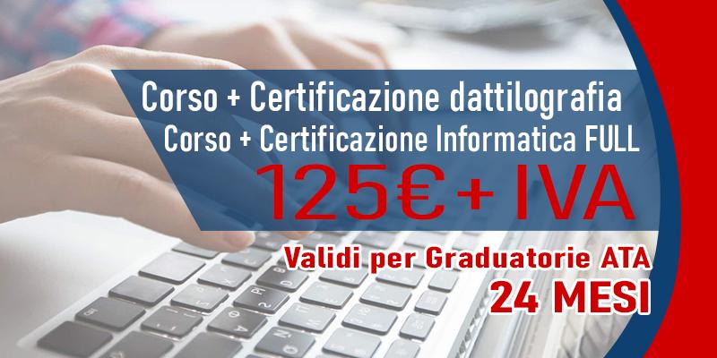 Corso di dattilografia con certificazione