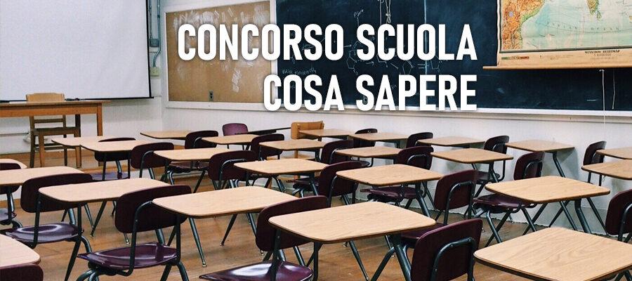 concorso scuola 2021