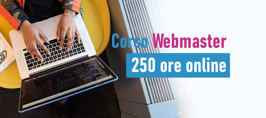 corso webmaster 250 ore